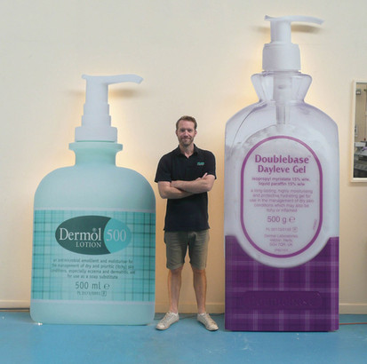 Giant Promotional Product Displays for Dermal Dermalogical Creams