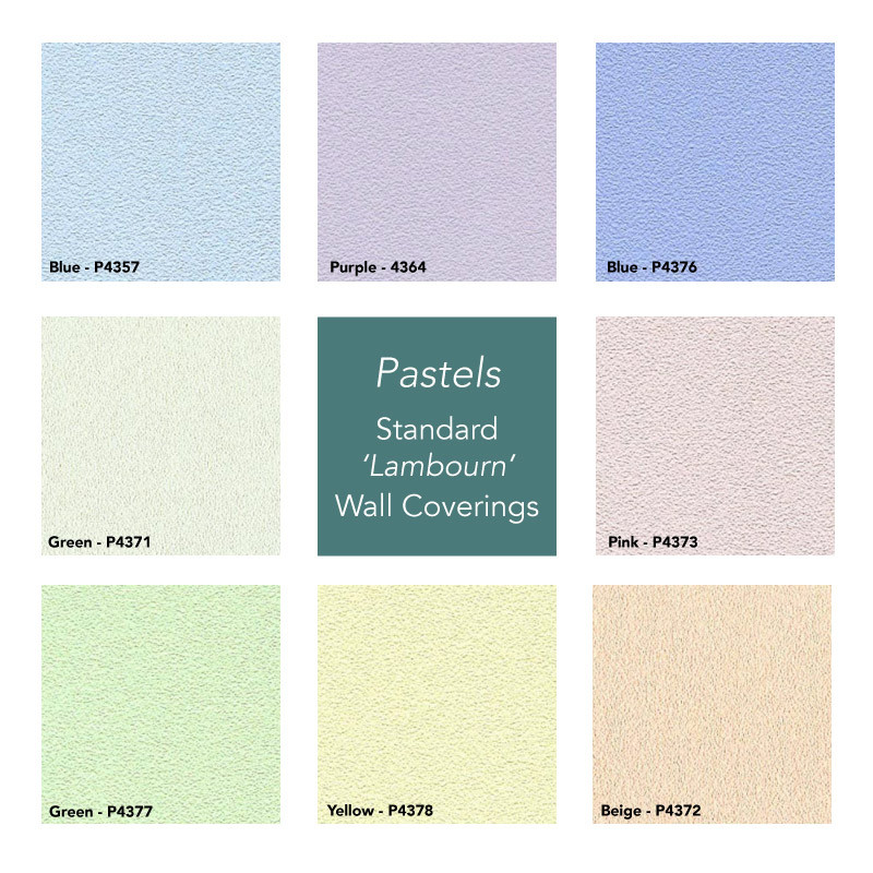 Pastels Garden Room Wall Covering Selection