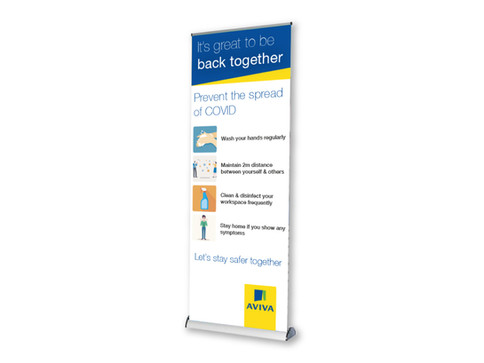 Bannerstand Covid Safety Signage for Retails, Hospitality and Offices