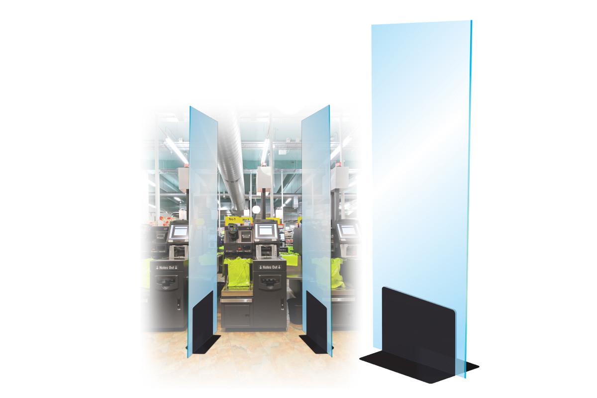 Free Standing L Bracket Dividing Screens