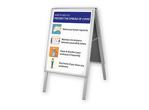 Indoor A Board Display for Covid by Image Display Norwich