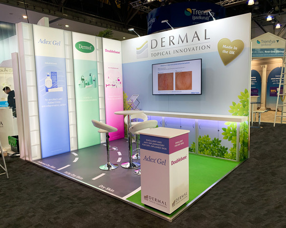 Modular Exhibition Stand Design and Build Dermal at BAD 2019