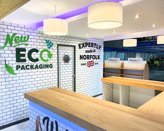 Custom Exhibition Stand Counters Naturediet at Crufts 2019