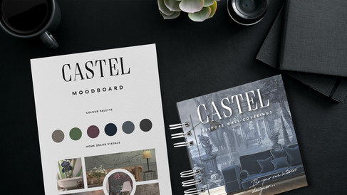 Graphic Design for Castel's Printed Marketing Materials