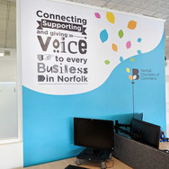 Interior Wall Graphic Print and Installation for Norfolk Chambers
