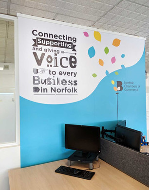 Norfolk Chambers Colourful Office Wall Graphics
