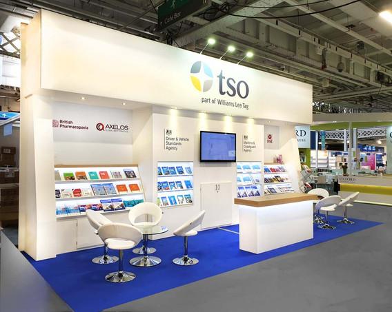 Custom Exhibition Stand Design and Build TSO London Book Fair 2019