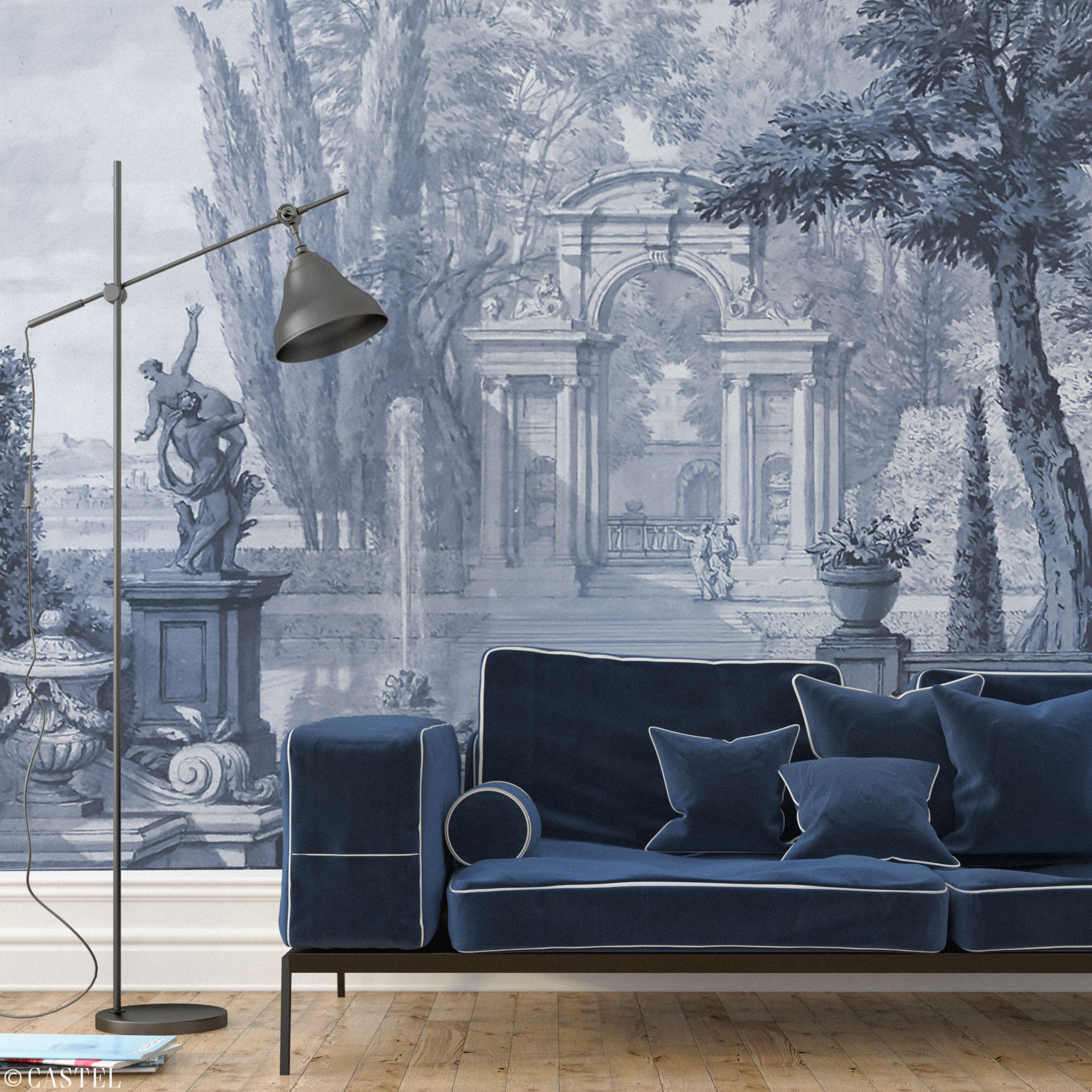China blue your castel custom wallpaper bespoke for Chinese style wallpaper uk