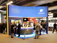Custom Exhibiton Stand - Aviva Airmic 2019