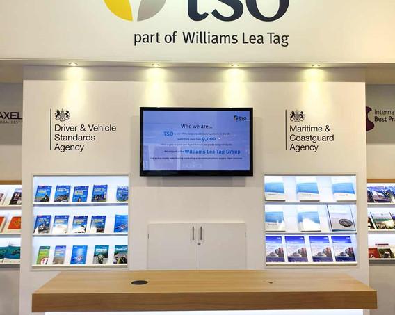 Exhibition Stand Branding TSO at London Book Fair 2019