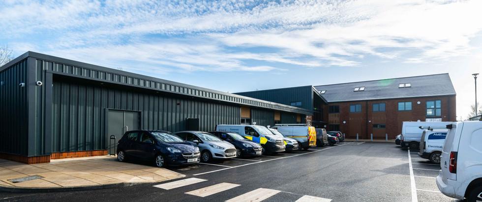 Swaffham-Police-Hub-Car-Park-Exterior-De