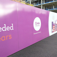 Construction Site Hoarding Graphics for Circle
