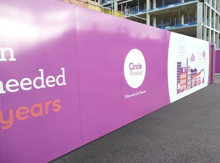 Custom Construction Site Hoardings for Circle Housing