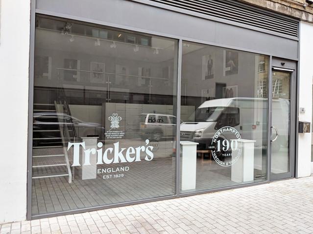 Tricker's Pop Up Shop Window Graphics