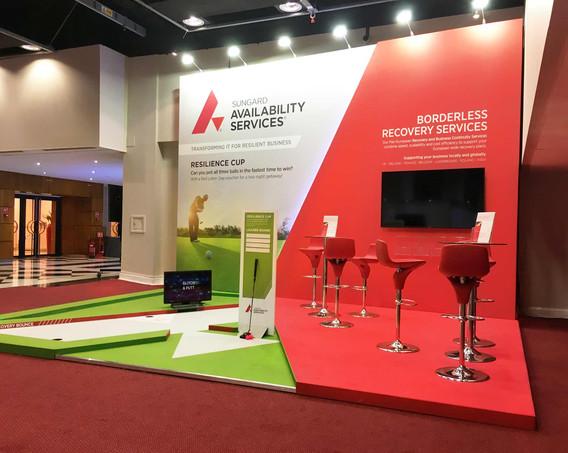 Angular Exhibition Stand Design Sungard BCI World 2019
