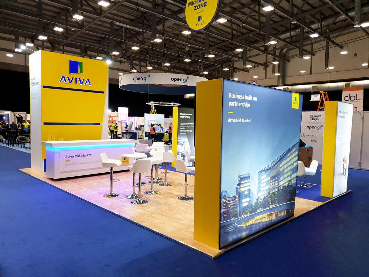 Large Custom Exhibition Stand Aviva Broker Expo 2019