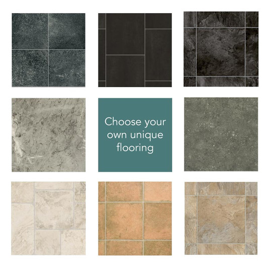 Stone Vinyl Premium Garden Room Flooring to Your Choice