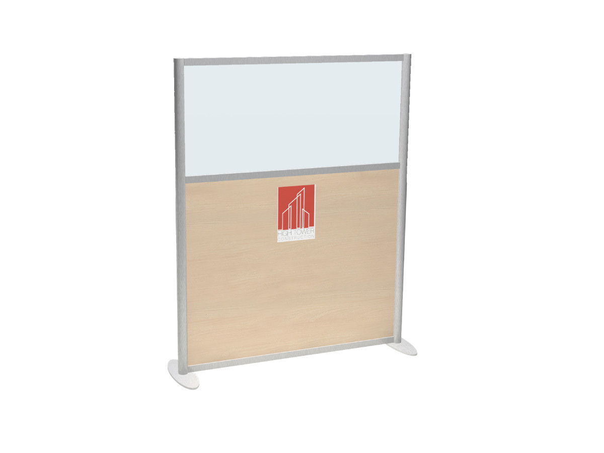 Full Height COVID Screen With Graphic Panel and Window