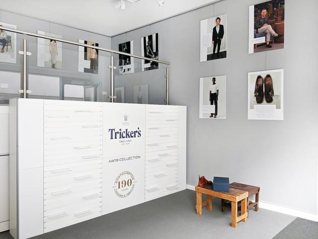 Farrows Trickers Pop Up Shop Interior