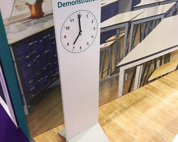 Exhibition Stand Demo Area Timer Developing Experts BETT 2018