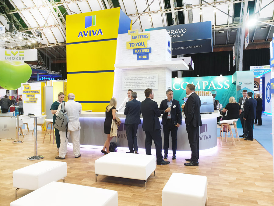 Large Exhibition Stand Meeting Space Aviva BIBA 2019