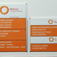 Custom Wall Signage for Wherry Housing