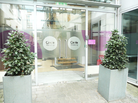 Reception Area Interior and WIndow Graphics for Circle Housing Norfolk