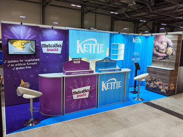 Flexible Modular Exhibition Stand System - Kettle Foods