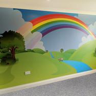 Bespoke Rainbow Wallpaper for Children's Bedroom