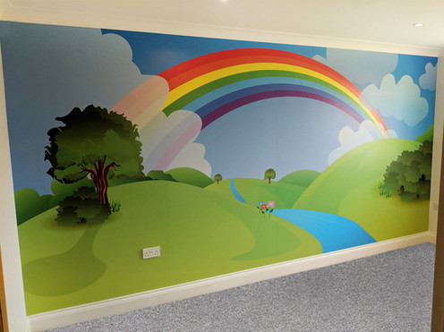 Rainbow Wall Covering for Residential Interiors Project