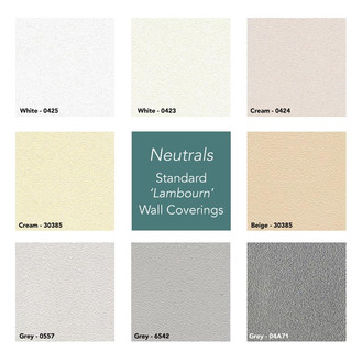 Neutrals Garden Room Wall Covering Selection