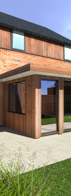 Attached Knightsbridge Garden Room with Natural Cladding - Image Garden Rooms