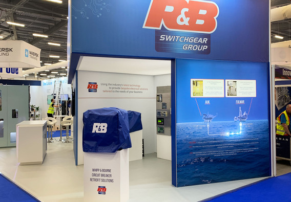 Custom Exhibition Stand Lighting Feature RB Switchgear OE 2019