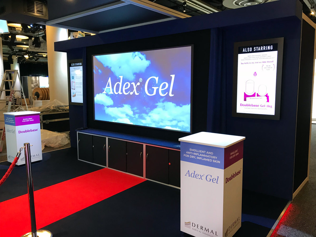 Exhibition Stand Projector Screen Dermal BAD 2018