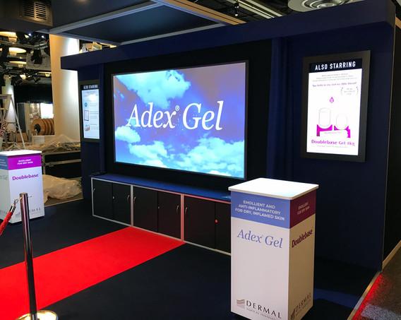 Exhibition Stand Projector Screen Dermal BAD 2018