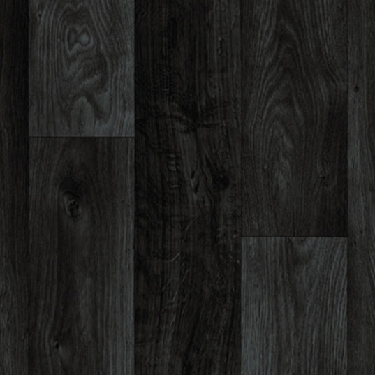 Standard Black Wood Plank Vinyl Garden Room Flooring