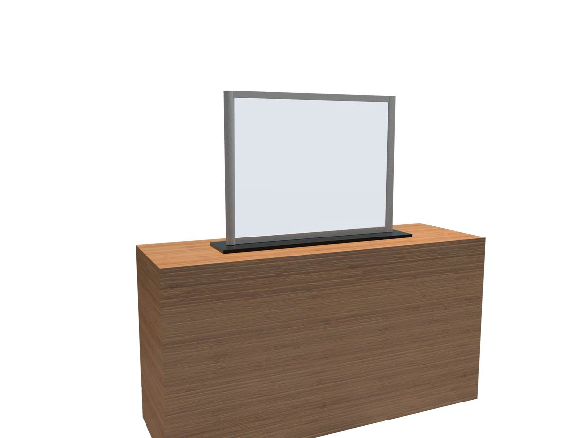 COVID Counter Screen with Square Base and Window