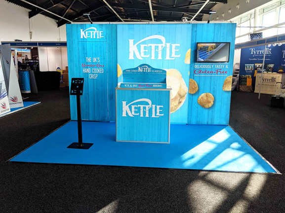T3 Modular exhibition stand display - Kettle