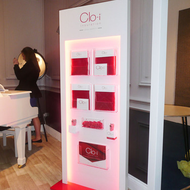 Illuminated Bespoke Shop Literature Display for Clo-i