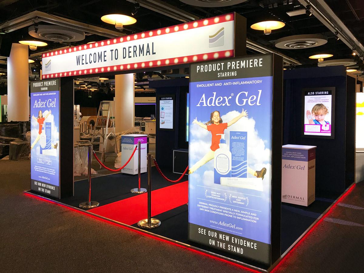Custom Exhibition Stand Cinema Set Dermal BAD 2018
