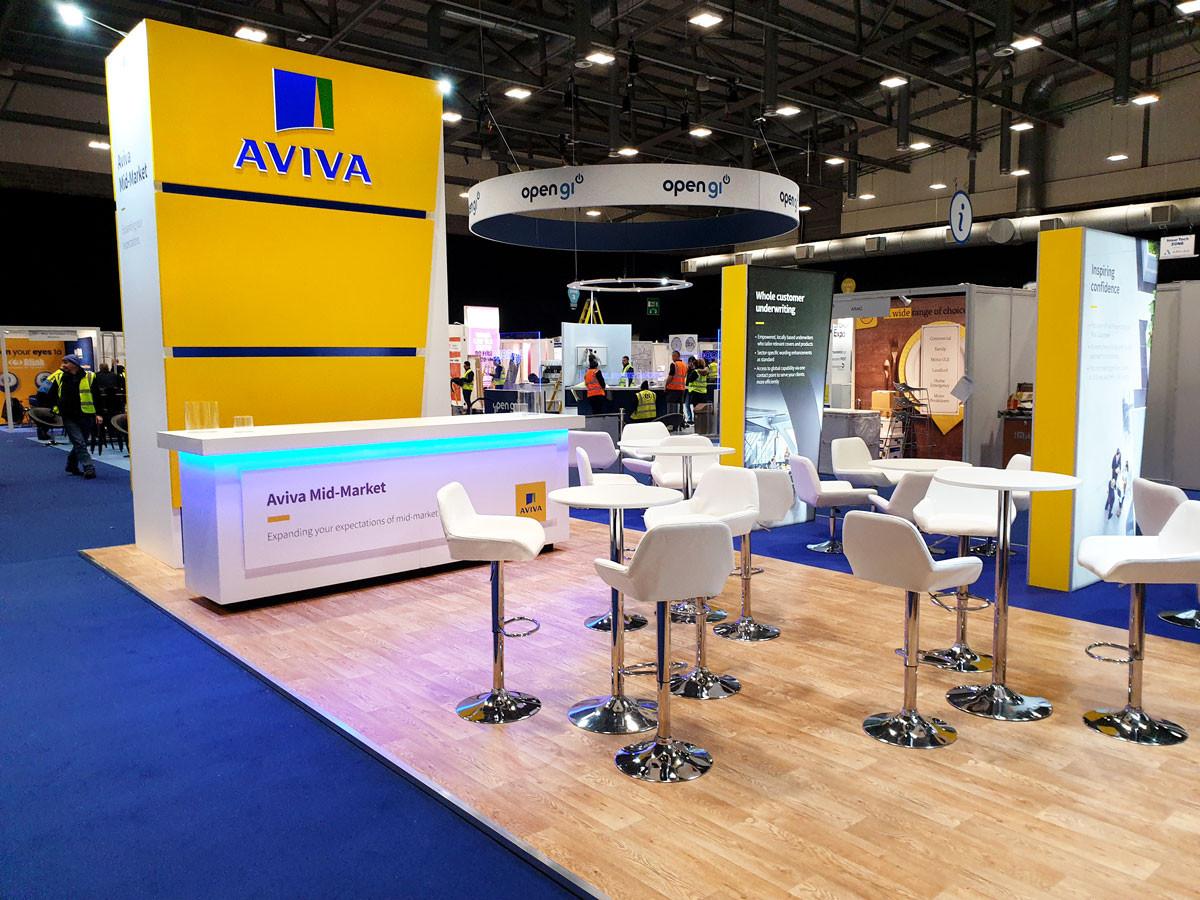 Exhibition Stand Networking Area Aviva Broker Expo 2019