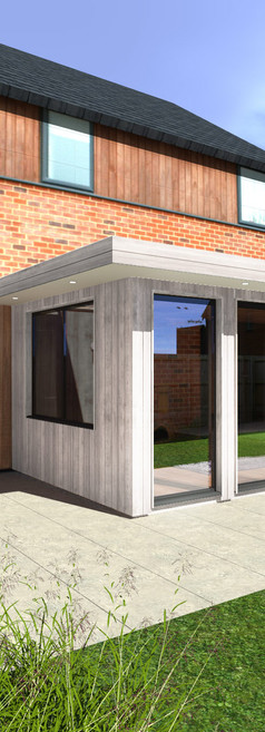 Attached Garden Room with White Cladding - Image Garden Rooms