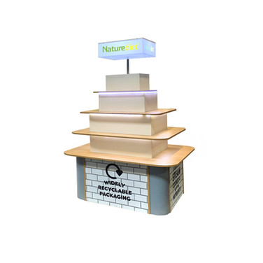 Pyramid POS Display for Naturediet