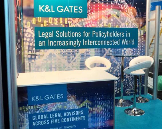 Modular Exhibition Stand Graphics K and L Gates Airmic 2018