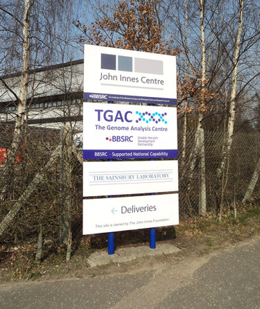 Exterior Signage & Graphics for John Innes Centre Norwich