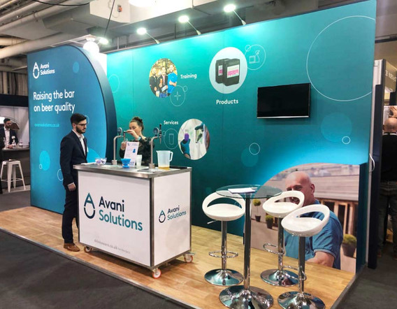 Small Custom Exhibiton Stand for Avani Solutions at PUB 2019