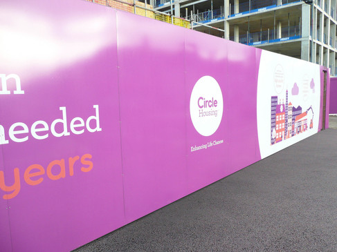 Graphic Design for Circle Construction Site Hoarding