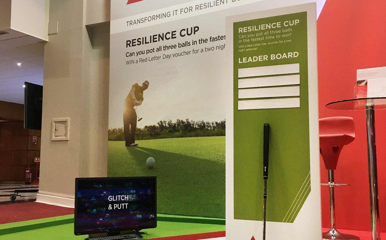 Exhibition Stand Golf Game Sungard BCI World 2019