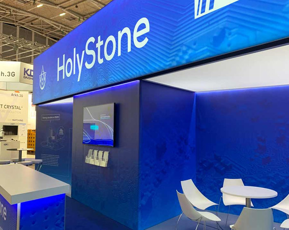 Exhibition Stand Lightbox Graphic Holystone Electronica 2018