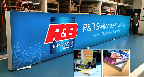 Fabric Graphic Print and Finishing for RB Switchgear at Image Display and Graphics